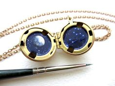 Custom Constellation Necklace Made-To-Order Locket by kharaledonne