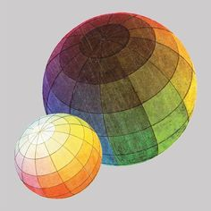 Color Theory Sphere- advanced drawing, high school