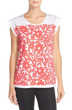 adidas by Stella McCartney 'Ess' Graphic Print Organic Cotton Top available at #Nordstrom