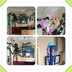 Ocean theme decorated preschool office This is our office :)