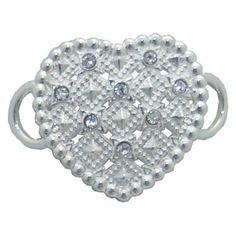 Hearts A Fire Convertible Clasp https://www.goldinart.com/shop/convertible-clasp-bracelets/hearts-fire-convertible-clasp #ConvertibleClasp, #Hearts, #SterlingSilver