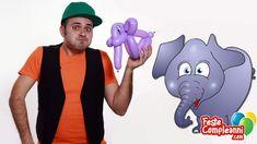 Balloon Elephant, balloon art, how to make an elephant with balloons. Elefante con i Palloncini - Realizziamo insieme a Mr. Nany un Elefantino con i palloncini, da usare come allestimento per la festa di compleanno dei vostri bambini, oppure per animare la festa con i palloncini modellabili per sculture.