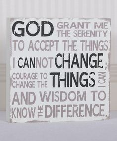 Another great find on #zulily! Serenity Prayer Wall Sign by Adams & Co. #zulilyfinds