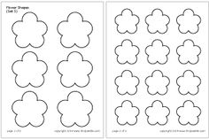 Flower Shapes Set 5