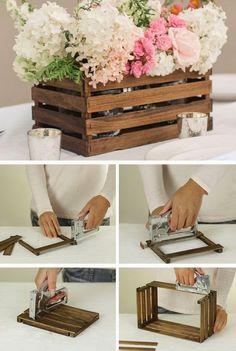 Passo a Passo de Lembrancinhas: DIY- Lembrancinha com caixote rústico para casamento