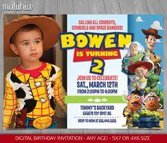 Toy Story Invitation Toy Story Invite Disney por MaluhiaPrints                                                                                                                                                                                 Mais