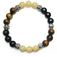 Balance of Mind, Body, & Spirit Crystal Intention Bracelet Healing Bracelets, Gemstone Bracelets, Gemstone Beads, Bangle Bracelets, Man Bracelet, Bracelet Charms, Stretch Bracelets, Crystals And Gemstones, Natural Gemstones