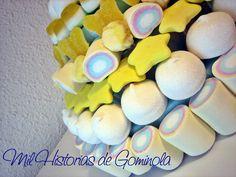 Tartas chuches / gominolas / cumpleaños / comuniones / amarillo