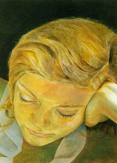 Lucian Freud - Girl Reading Portrait is of his wife Caroline Blackwell.