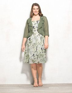 Plus Size Floral Crochet Jacket Dress | dressbarn