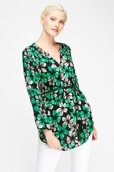 awesome Floral Embellished Printed Tunic