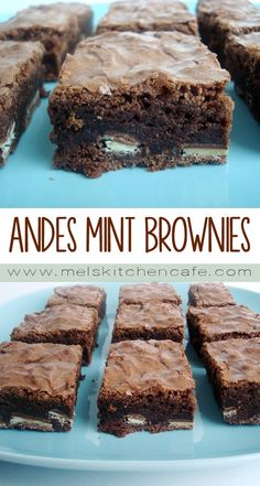 26 Tasty Mint Dessert Recipes - Captain Decor Mint desserts are so fun and tasty! Number 7 is my absolute favorite. Andes Mint Cookies, Mint Chocolate Chip Cookies, Chocolate Swirl, Andes Mint Brownies Recipe, Homemade Brownies, Mint Recipes, Best Dessert Recipes, Delicious Desserts, Yummy Food
