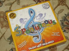 Spontuneous: A Game for All Generations - Family Board Game Night! Holiday Party Themes, Holiday Parties, Party Ideas, Game Night, Board Games, Birthday Parties, Activities, Fun, Crafts