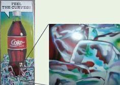 This Coca-Cola ad was released in Australia in the 1980's to promote the new bottle shape.The ad was quickly recalled when onlookers spotted sexual content, and the designer of the ad was soon thereafter fired.