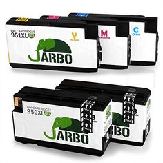 JARBO 1Set+1BK High Capacity Replacement For HP 950 951 Ink Cartridge Compatible With HP Officejet PRO 8600 8610 8620 8630 8640 8660 8615 8625 251dw 271dw  http://www.discountbazaaronline.com/2016/07/07/jarbo-1set1bk-high-capacity-replacement-for-hp-950-951-ink-cartridge-compatible-with-hp-officejet-pro-8600-8610-8620-8630-8640-8660-8615-8625-251dw-271dw/