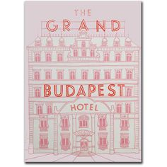 Grand Budapest Hotel Book Journal Notebook Hardcover (76 BRL) ❤ liked on Polyvore featuring fillers, books, backgrounds, extras, pink and magazine
