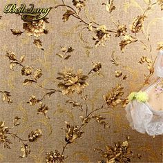 41.60$  Buy here - http://alim8j.shopchina.info/go.php?t=32502742135 - beibehang Luxury Floral Wall paper Modern Embossed Gold Wallpaper For Walls Papel De Parede Wallpaper Roll Tapete Vinyl  41.60$ #shopstyle
