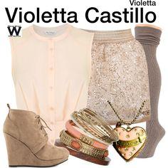 Inspired by Martina Stoessel as Violetta Castillo on Violetta.