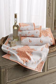 Adana towels - like a dreamsicle - combo of orange and cream