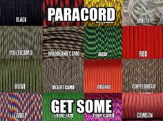 Type III 550 Paracord - Get some and put it in your go-bag, glove box or trunk for emergencies.