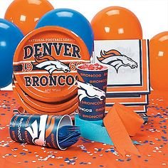 NFL® Denver Broncos™ Party Supplies at Oriental Trading Company. Perfect for football party.