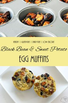 Black Bean and Sweet Potato Egg Muffins: A healthy and easy make-ahead breakfast recipe. Gluten-free, Dairy-Free and Low-Calorie via @mypennywiselife