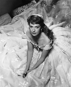 """Scottish actress, Deborah Kerr (born Deborah Jane Kerr-Trimmer ~ 1921-2007) Originally trained as a ballet dancer, she was described as """"an artist of impeccable grace & beauty, a dedicated actress whose motion picture career has always stood for perfection, discipline & elegance"""".  Her best known roles include, FROM HERE TO ETERNITY and THE KING AND I"""