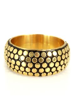 Saachi Large Bangle In Gold