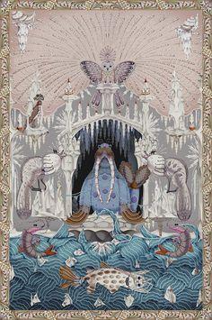 Les plus beaux tapis vus au Salon de Milan 2016 : Tapis Polar Byzantine Chapter 4, Klaus Haapaniemi (Moooi Carpets)