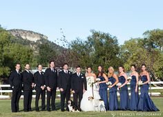 October Wedding Party Crooked Willow Farms with Frances Photography.