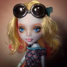 Monster High Doll Repaint Custom Ooak Faceup Lagoona By Teknova