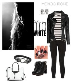 """""""#MONOCHROME #BlackWhite"""" by medgurl ❤ liked on Polyvore featuring Bling Jewelry, J Brand, IRO, Balenciaga and monochrome"""