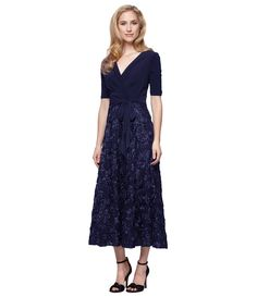 9a34fa55a83 Shop for Alex Evenings Tea-Length Rosette Skirt Party Dress at Dillards.com.