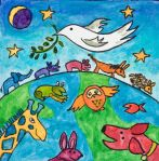 Respect, dignity and peace will be bestowed on all creatures, people & countries on our beautiful planet. The disturbing acts being committed throughout the world will cease. We only have a short time so make it a good time . live and let live. Peace Drawing, Peace Crafts, Square 1 Art, Harmony Day, Hippie Peace, Good Environment, Arts Ed, World Peace, Preschool Art