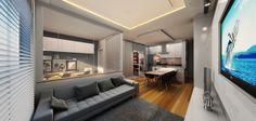 Apartamento (Sala de Estar) - Felipe Saia Arquitetura (Curitiba - PR - Brasil)