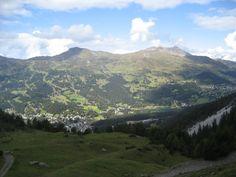Blick auf die Lenzerheide und Valbella im Kanton Graubünden