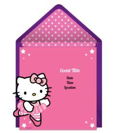 Free Hello Kitty Invitations Hello kitty invitations Kitty party