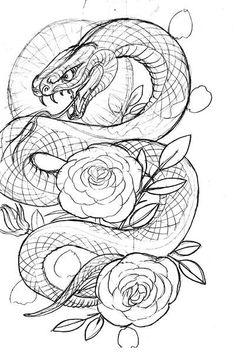 Tattoo art inspiration snake wrapped around skeleton arm Neck Drawing, Snake Drawing, Snake Art, Tattoo Sketches, Tattoo Drawings, Body Art Tattoos, Sleeve Tattoos, Japanese Snake Tattoo, Japanese Dragon Tattoos