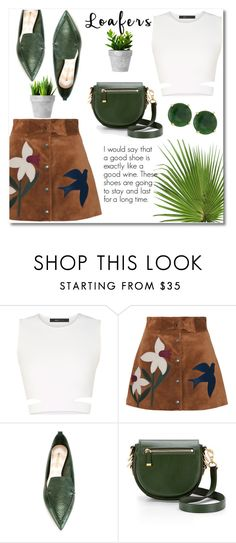 """""""Loafers"""" by misshonee ❤ liked on Polyvore featuring BCBGMAXAZRIA, RED Valentino, Nicholas Kirkwood, Rebecca Minkoff and Panacea"""