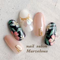 夏/旅行/リゾート/オフィス/ハンド - Marvelous★原田涼子のネイルデザイン[No.4491040]|ネイルブック Glam Nails, Bling Nails, Simple Nail Art Designs, Nail Designs, Japan Nail Art, Clear Nail Tips, Nagel Bling, Pointed Nails, Gelish Nails