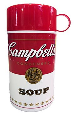 Campbell's Soup Can-tainer, 11-1/2-Ounce:   Campbell's thermal containers hold 11-Ounce and help to keep soup warm on-the-go. They are convenient and sturdy with unbreakable insulation. Nothing beats warm homemade soup or hot cup of hot chocolate when there's no microwave or stove available. Hand wash recommended. BPA-free.