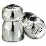 Salt and Pepper Pots: Silver Plated Champagne Stopper Style - Culinary Concepts - £29.00 - Antique Rose Boutique