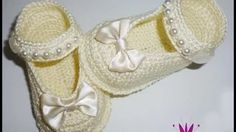 crocheted slippers for babies - YouTube