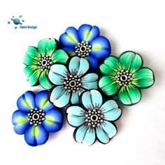 Flower beads   by Marcia - Mars design