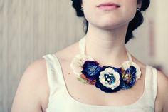 Joyería nupcial personalizada collar de flores por rosyposydesigns
