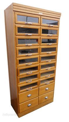 Antiques Atlas - Vintage Oak 20 Drawer Haberdashery Shop Cabinet