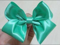 Laço Duplo-Duplo de Cetim: Faça você mesma - DIY Double Satin Ribbon Bow - Lazo de cinta doble - YouTube