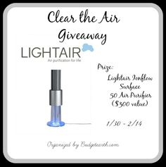 #Giveaway: Enter To #Win A Lightair Ionflow Surface 50 Air Purifier - Jenn's Blah Blah Blog - Travel, Recipes, Tech Talk, Giveaways and Swee...