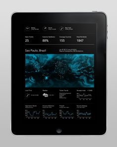 Mission Control #ipad #tablet #design #ui