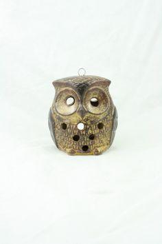 1970's hanging owl vintage ceramic pottery by WindingRoadVintage2, $18.00